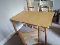 *£80 - Ikea Nygard Extendable Dining Table and 4 Ivar Chairs