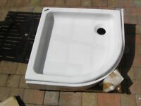 Showerlux Quadrant Shower Tray with Riser and Trap New