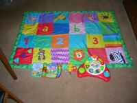 Childs Play/Activity Mat plus Electronic Activity/Learning Toys