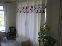 Pair of Large Pencil Pleat Curtains