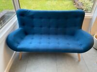 """Brand new MADE """"Doris"""" two seater sofa in Navy blue"""