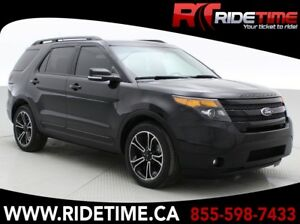 2015 Ford Explorer Sport 4WD - Panoramic Roof, NAV, DVD Headrest