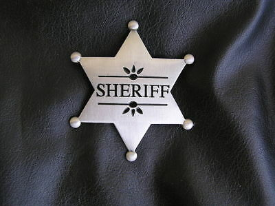 Quality Costumes Australia (OLD WEST - SHERIFF BADGE - HIGH QUALITY Antique Silver - Marshal)