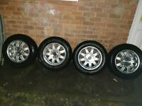 "4 *16""Alloy wheels with Tyres 5 *114,3 67,1"