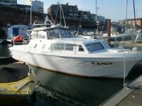 Princess 32 for sale. CHEAP LIVE ON BOARD £44 a week!!!!