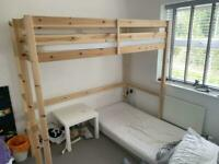 Pine frame High bed