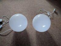 2 Ikea Fado table lamps - white