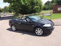 Black Renault Megane 1.6 VVT Dynamique 2dr Pano roof Convertible Black Leather Low mileage