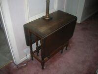 oak wood table 3 leaf vintage folding retro