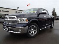 2015 Ram 1500 Laramie-Leather Heated Buckets-Reimote Start-Diese