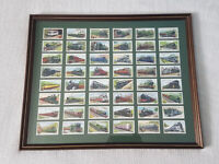Trains of the World 1939 - framed Gallahers card collection