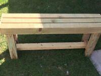 Handmade solid wood garden bench
