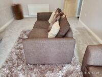 Fabric sofa two 3 seaters