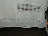 vintage  cotton crocheted cutains