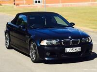 BARGAIN 2005 BMW M3 CONVERTIBLE HPI CLEAR CARBON BLACK FULLY LOADED FACELIFT