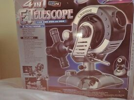 TeleScience Electronic 4 in 1 Telescope - Perfect Christmas Gift