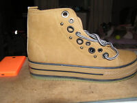 Brand NEW in box Womens high top trainers, with chunky heel