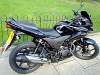 Honda CBF 125 2013, Black, 5,859miles, 63REG, 1 Year MOT, £1550, like NEW, Notting Hill, West London
