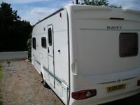 2004 Swift Challenger 530SE 4 berth caravan for sale £4,250 in good condition for year