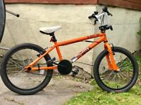 BMX bike for sale with 20 inch wheels and stunt pegs.