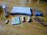 Excellent Condition Nintendo Wii Fit Bundle: Board, Controller, Wi Fit Plus & HDMI Adapter