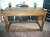 Georgian Antique Oak Refectory Table