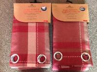 "Pair of tartan woven curtain panels 54x86"""