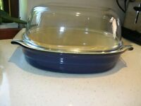 Good quality near new earthenware Flan dishes, Roasters etc. Downsizing