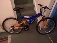 "18"" mountain bike for sale, £65 o.n.o"