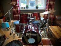 PREMIER Vintage Full Drum Kit VGC