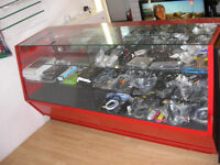 GLASS SHOP DISPLAY CABINET WITH LIGHTS
