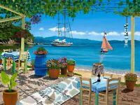 Skiathos Taverna Sklithri 2 Giclee A3 limited edition prints