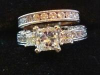 Stunning 3 Carat Tacori style engagement ring! Reduced to sell!