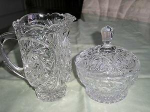 POT ET BOL DE CRISTAL/ CRYSTAL PITCHER AND BOWL Gatineau Ottawa / Gatineau Area image 1