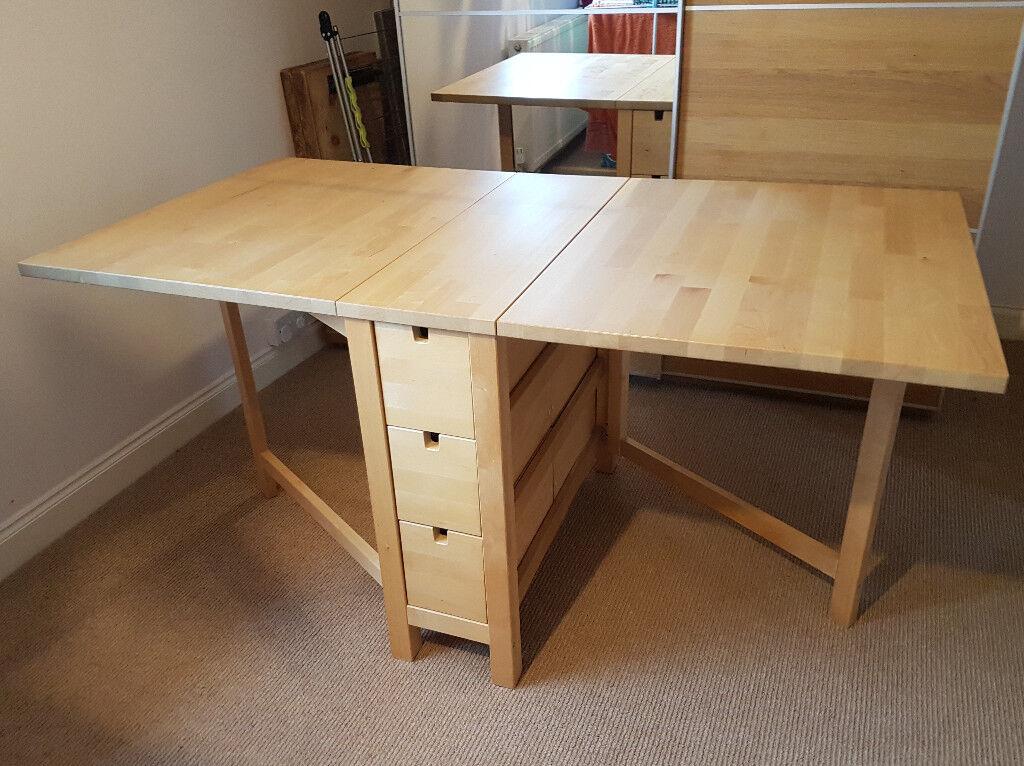 Norden Gateleg Folding Table 4 Chairs
