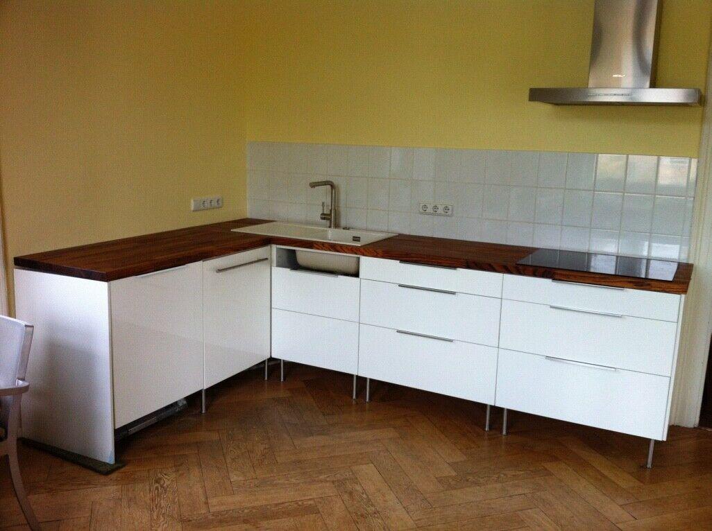 ikea Küche weiss, diverse Unterschränke, L-Form, ohne Geräte/Arbeitsplatte