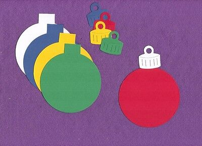 CHRISTMAS ORNAMENT  Ball die cuts scrapbook cards ()