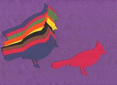 BIRD cardinal / blue jay die cuts scrapbook cards