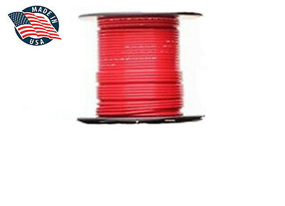 50ft Mil-spec High Temperature Wire Cable 22 Gauge Red Tefzel M2275916-22-2
