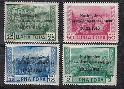 Montenegro, Nr. 10-13, postfrisch