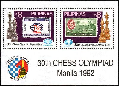 Philippines 2154 S/S, MNH. 30th Chess Olympiad, Manila, 1992