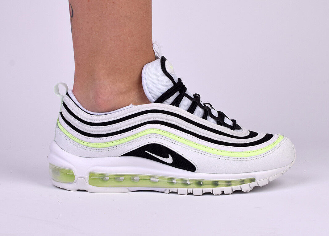 Nike WMNS Air Max 97 Women Lifestyle Sneakers New Summit White Volt 921733 105