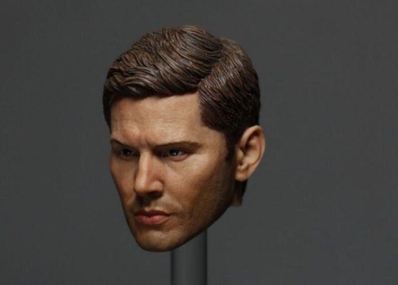 "Supernatural Dean Winchester Head Sculpt  Jensen Ackles for 12/"" Action Figure"