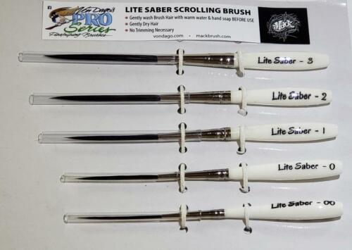 "PREMIUM Pro Series Scrolling & Pinstriping 5 BRUSH SET ~ ""Professionals Choice"""