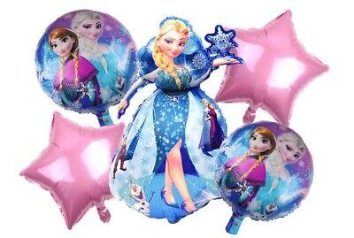 Princess Helium Balloons (Disney Princess Frozen Birthday Party Elsa & Anna Mylar Helium Balloons &)