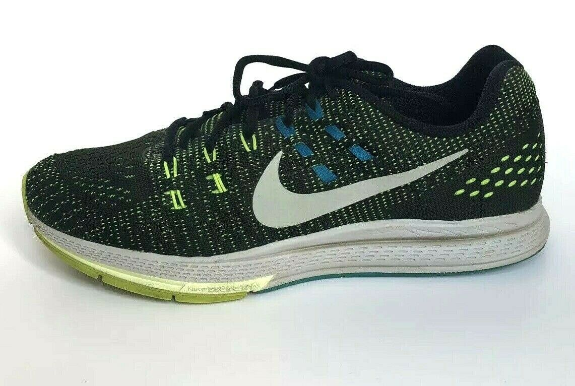 info for 90e64 bec92 Nike Air Zoom Structure 19 Size 9.5 Mens Running Shoes Black Volt Blue