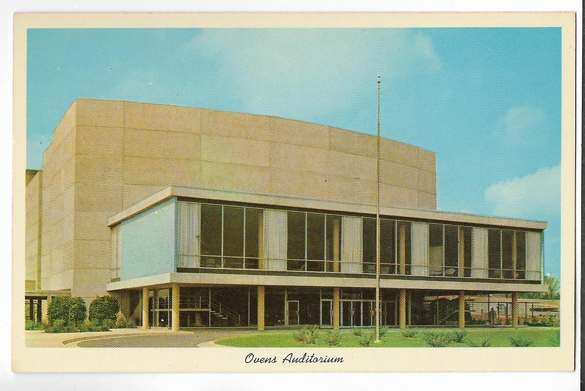 OVENS AUDITORIUM~CHARLOTTE,NC ~ SPORTS & ENTERTAINMENT ARENA -CT 1957