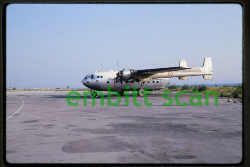 Original Slide, French Air Force Nord N2501 Noratlas at Athens Greece, 1969