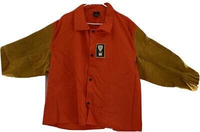 Tillman 9230 30 9 Oz. Orang Cottonleather Welding Jacket 3x Brand New