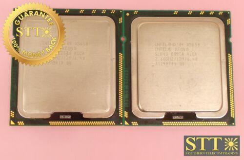 X5650 Intel Xeon Processor 12m Cache 2.66 Ghz 6.40 Gt/s Qpi (lot Of 2) Slbv3